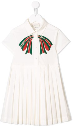 Gucci Kids Bow Embroidered Dress
