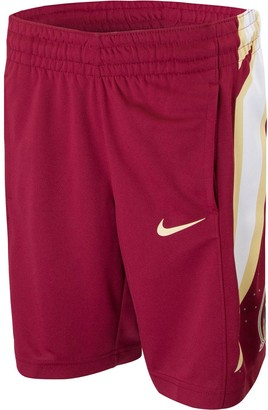 Nike Youth Garnet Florida State Seminoles Basketball Jersey Replica Shorts