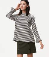 LOFT Striped Bell Sleeve Sweatshirt