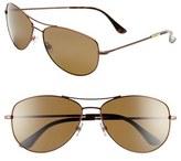 Kate Spade 'ally' 60mm Polarized Metal Aviator Sunglasses