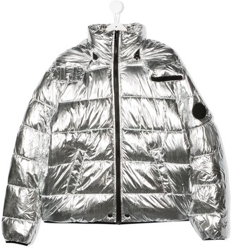 Diesel TEEN metallic-sheen jacket