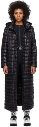 Moncler Black Down Chocolat Coat