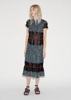 Kolor Tiered Colorblock Dress