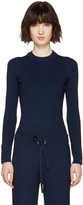 3.1 Phillip Lim Navy Military Pullover