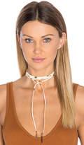 Ettika Wrap Necklace in Beige.