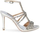 Badgley Mischka Hughes Embellished Metallic High-Heel Sandals