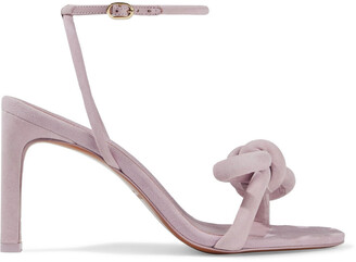 Zimmermann Structural Bow Embellished Suede Sandals