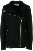 Just Female shearling jacket with silver hardware