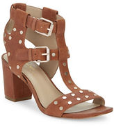 424 Fifth Letha Leather Studded Sandals