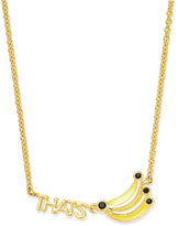 Kate Spade Out Of Office Gold-Tone That's Bananas Bar Necklace