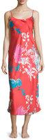 Natori Chianti Floral Gown, Cinnabar
