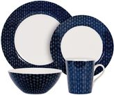 Maxwell & Williams Maxwell & WilliamsTM Diamond 4-Piece Place Setting in Indigo/White