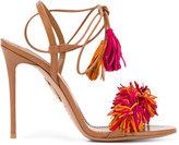 Aquazzura fringed sandals - women - Leather/Suede - 36