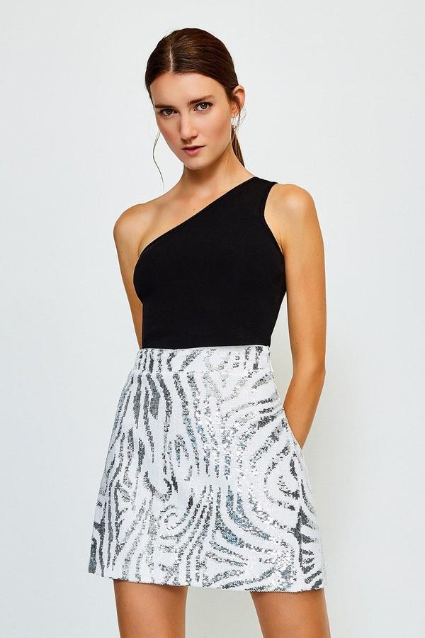 Thumbnail for your product : Karen Millen Sequin Mini Skirt