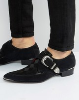 Jeffery West Adam Ant Buckle Suede Shoes