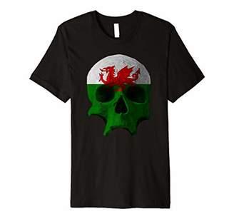 Dragon Optical Wales Flag Skull Welsh Patriotic T-shirt
