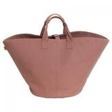 Hermes Brown Cloth Handbag