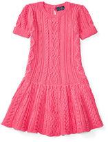 Ralph Lauren Aran-Knit Cotton Sweater Dress