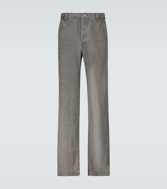 Nanushka Bil linen denim-look pants
