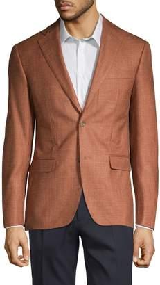 Michael Kors Classic Fit Wool Silk Linen Sport Jacket
