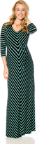 Motherhood Variegated Stripe Maternity Maxi Dress