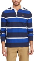 Chaps Big & Tall Striped Rugby Polo