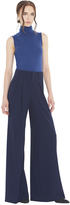 Alice + Olivia Navy Eloise Straight Wide Leg Trouser
