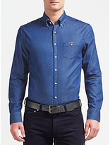 Gant Indigo Long Sleeve Shirt, Indigo