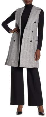 SUISTUDIO Sleeveless Wool Blend Coat
