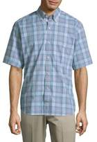 Tailorbyrd Plaid Buttoned Cotton Shirt