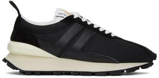 Lanvin Black Suede Bumper Sneakers