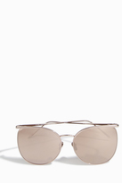 Linda Farrow Luxe Rimless Thin Frame Sunglasses
