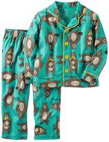 Carter's Toddler Boy Button-Down Top & Bottoms Pajama Set