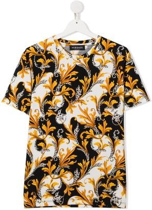 Versace short sleeve baroque print T-shirt