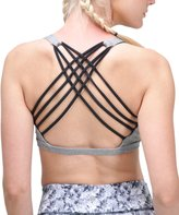 Queenie Ke Womens Yoga Sport Bra Light Support Strappy Free To Be Bra Size XL Color Across