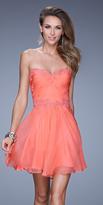 La Femme 20573 Lace Sweetheart A-line Dress