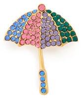 Cara Women's Umbrella Crystal Brooch