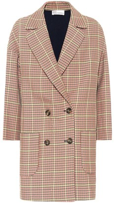 RED Valentino Double-breasted houndstooth coat