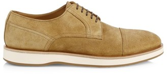 HUGO BOSS Oracle Cap-Toe Suede Derby Shoes