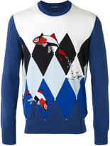 Ballantyne fish intarsia jumper - men - Cotton/Cashmere - 46