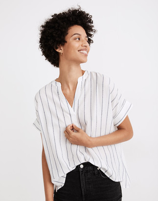 Madewell Lakeline Popover Shirt in Stripe