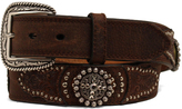 Ariat Brown Studded Leather Belt