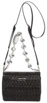 Miu Miu Cloquet Nappa Leather Crystal Mini Convertible Clutch