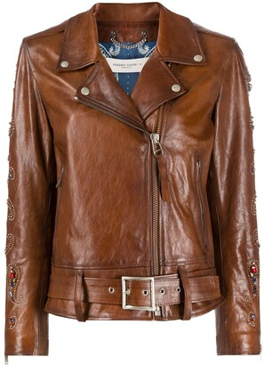 Golden Goose Embellished Biker Jacket