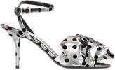 Balenciaga Polka Dot Bow Sandals