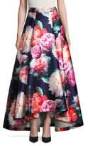 Eliza J Floral-Print-A Line Skirt