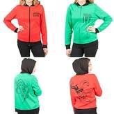 DC Comics Harley Quinn & Poison Ivy Reversible Womens Hoodie Jacket