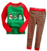 Mactery Boys Girls Christmas Sleepwear Snowman T-Shirt+Pants Pajamas Set