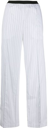 Plan C Pinstripe High-Waisted Trousers