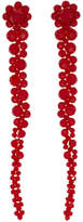 Simone Rocha Red Short Drip Earrings